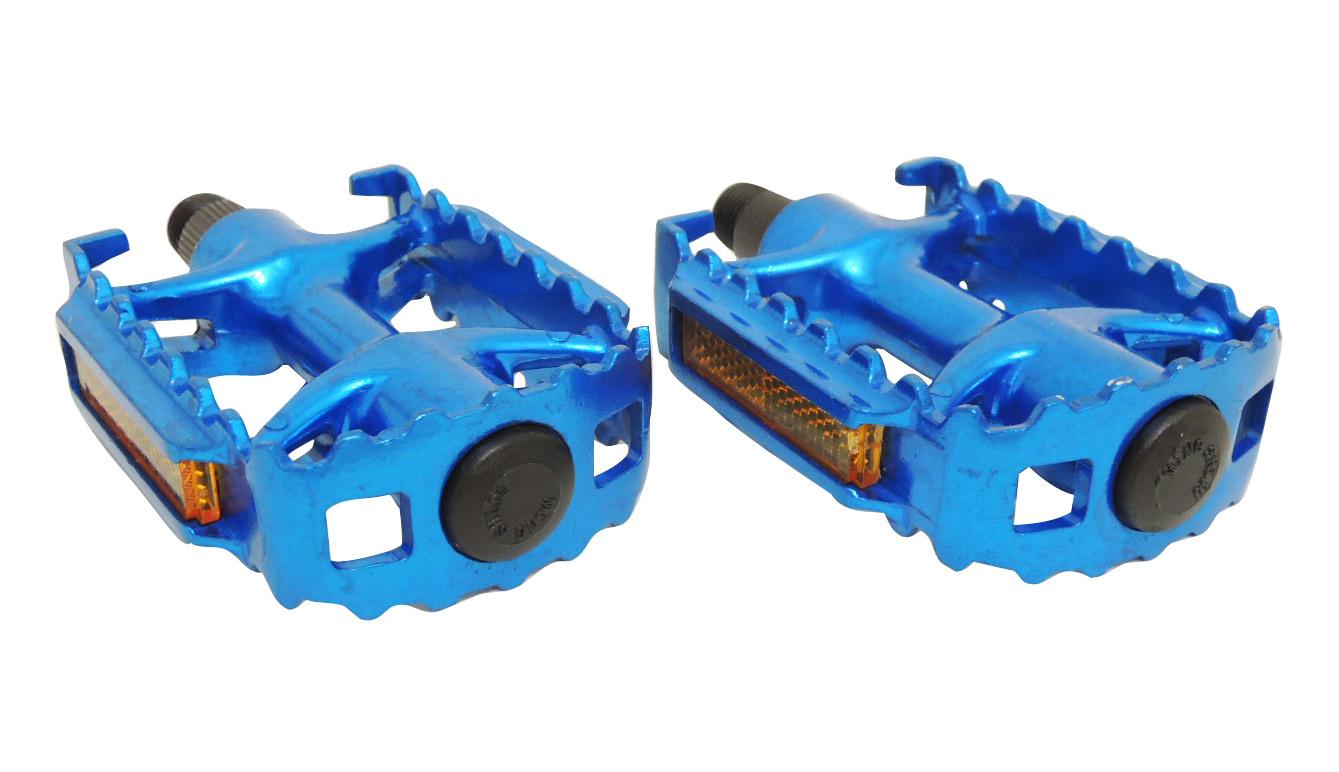 Педали 00-170362 алюм. литые с отражат. (50) синие