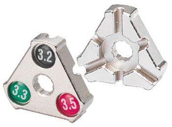 "Захват д/спиц  6-14001 Cr-Mo 0.127''/0.130''/0.136'' (3,2/3,3/3,5мм) YC-1A ""трeуг."" серебр. BIKEHAND"