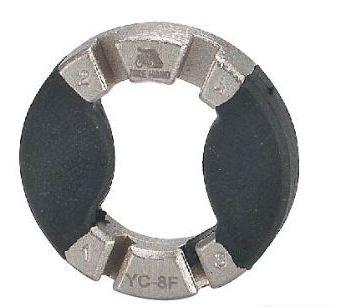 Захват д/спиц 6-150008 профи YC-8F 3.2/3.45/3,5/4,0 мм сталь прорезин. вставки серебр. BIKEHAND